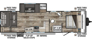 2021-KZ-RV-Connect-SE-C281BHSE-Travel-Trailer-Floorplan
