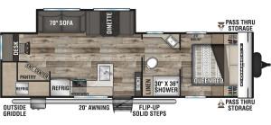 2021-KZ-RV-Connect-SE-C281RDKSE-Travel-Trailer-Floorplan