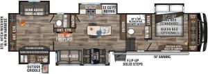 2021-KZ-RV-Durango-D348BHF-Fifth-Wheel-Floorplan