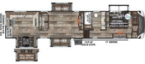 2021-KZ-RV-Durango-Gold-G391RKQ-Fifth-Wheel-Floorplan