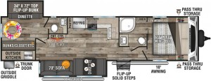 2021-KZ-RV-Connect-C322BHK-Travel-Trailer-Floorplan